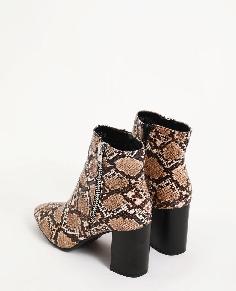 Boots à talon beige ficelle