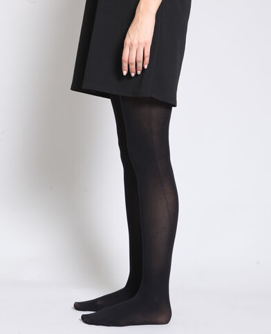 Ondoorschijnende panty's zwart