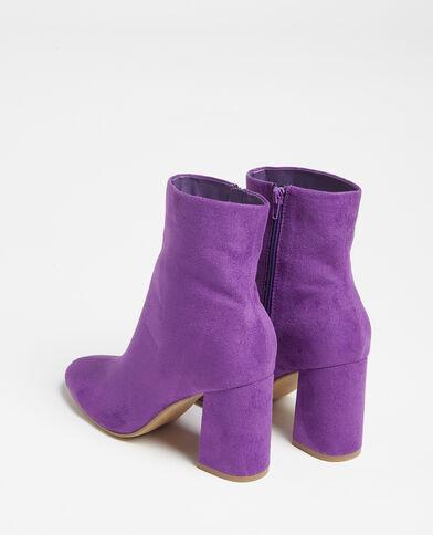 Laarzen met nubuckeffect violet