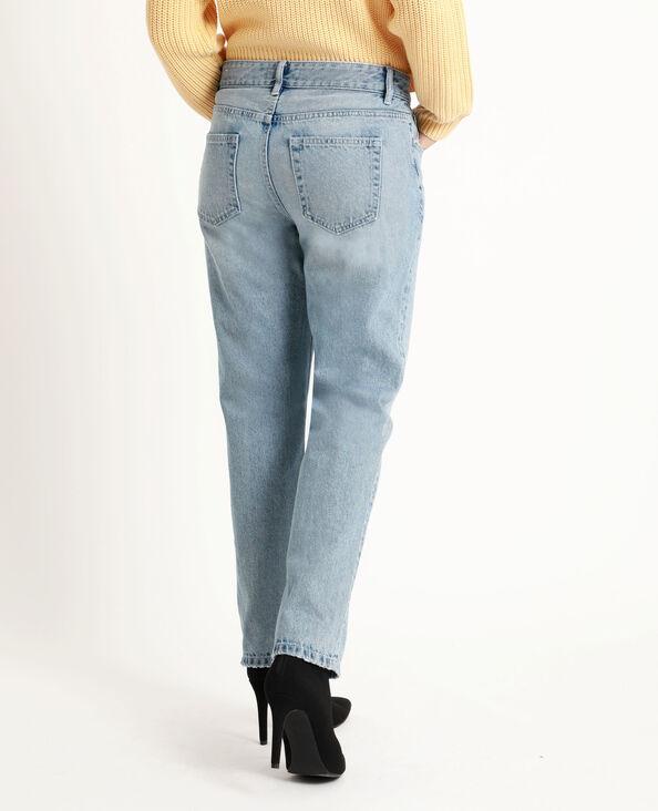 Straight-fit jeans met middelhoge taille blauw