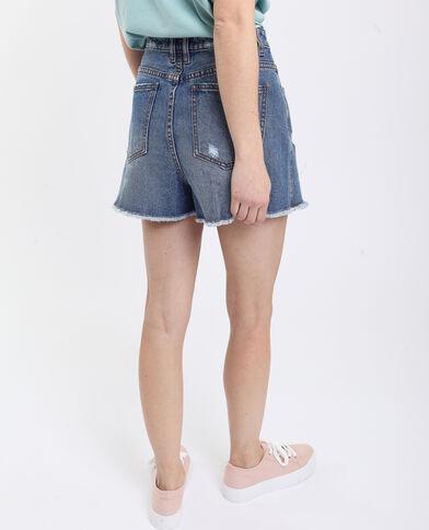 Jupe short en jean bleu foncé