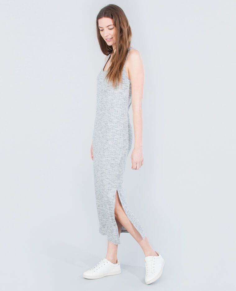 Robe longue débardeur gris chiné - 781191830J08   Pimkie 715308dbcac6