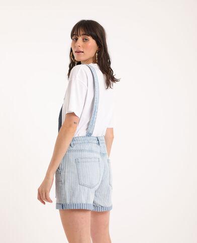 Salopette en jean bleu clair