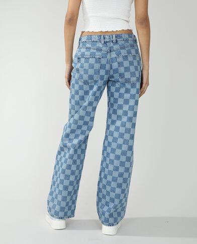 Wide leg jeans met middelhoge taille denimblauw - Pimkie