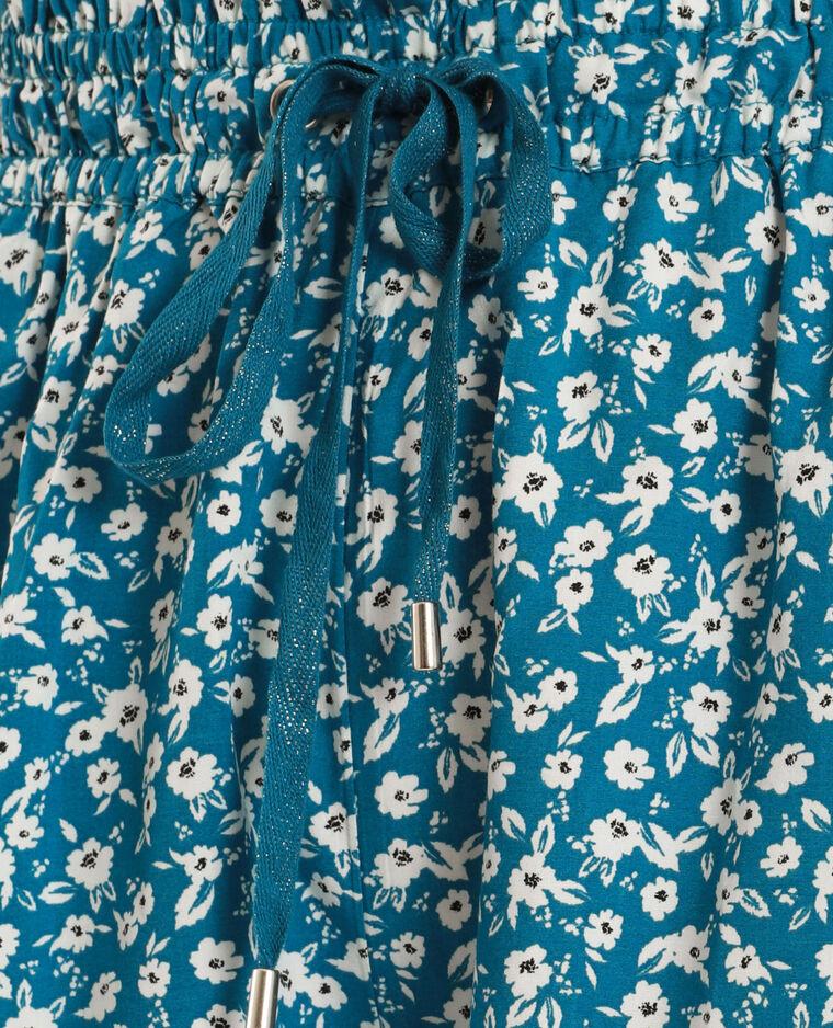 Short à fleurs bleu