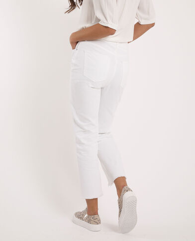 Jean straight high waist écru