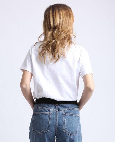 Regenboog-T-shirt wit