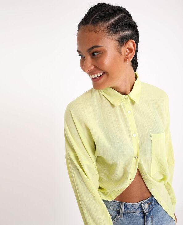 Oversized hemd. geel