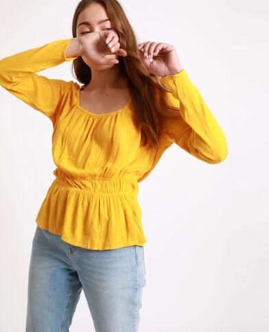 Blouse met lange mouwen geel