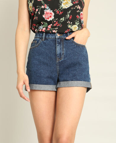 Mom short donkerblauw