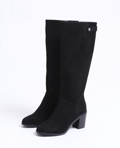 Suèdine laarzen zwart