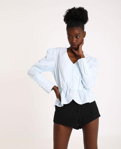 Gestreepte blouse gebroken wit
