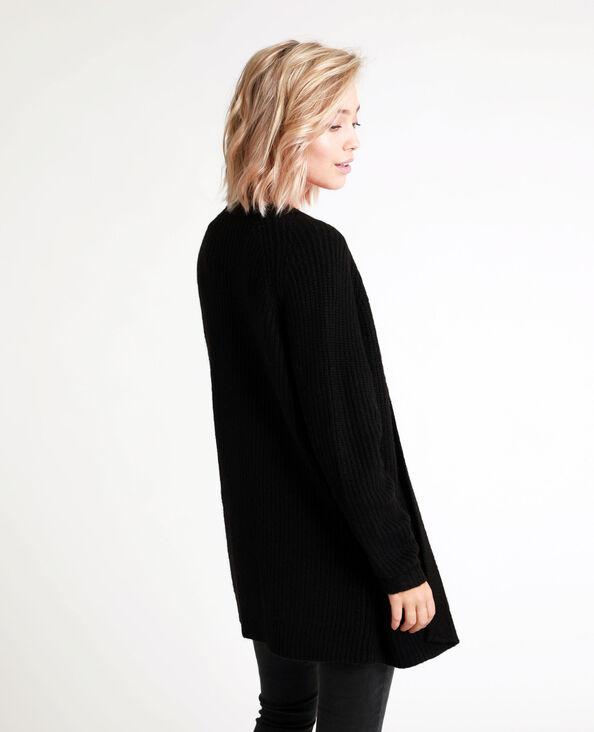 Gilet mi-long noir