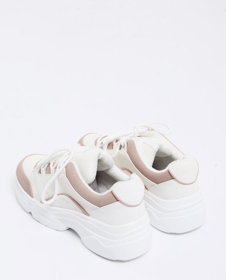 Sneakers met dikke zolen poederroze