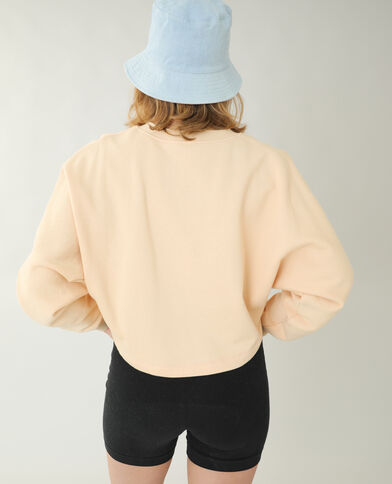 Sweater van molton beige - Pimkie