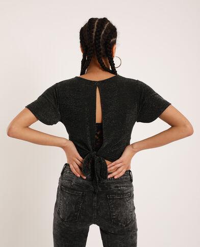 T-shirt dos ouvert noir