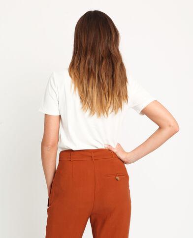 T-shirt à boutons blanc