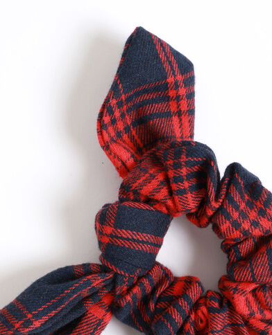 Scrunchie met strikje rood