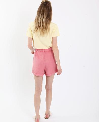 Soepelvallende short roze