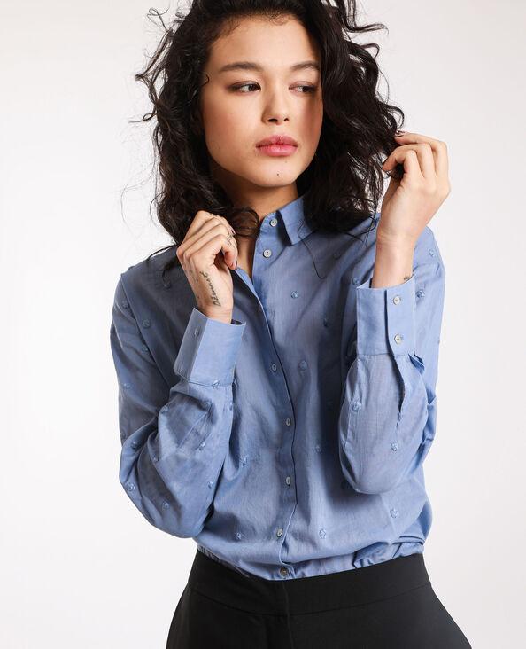 Chemise à motifs bleu ciel
