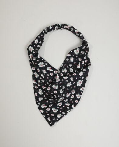 Haarband met bloemenprint zwart - Pimkie