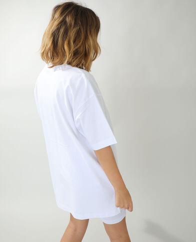Basic oversized T-shirt wit - Pimkie