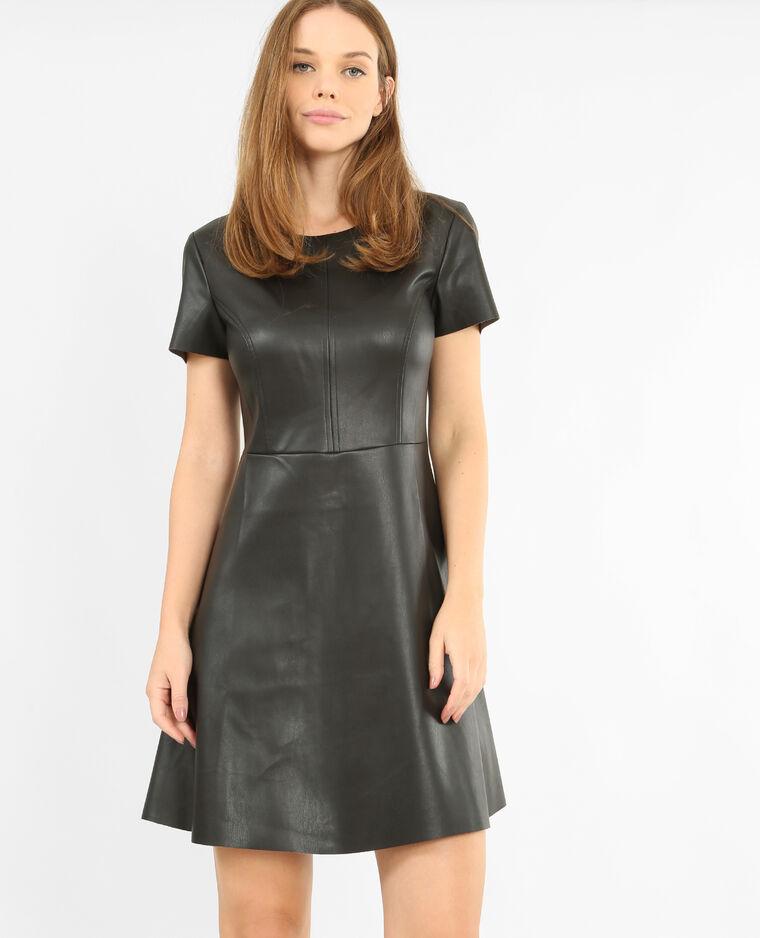 a443cadfc4 Robe en simili cuir noir - 780762899A08 | Pimkie
