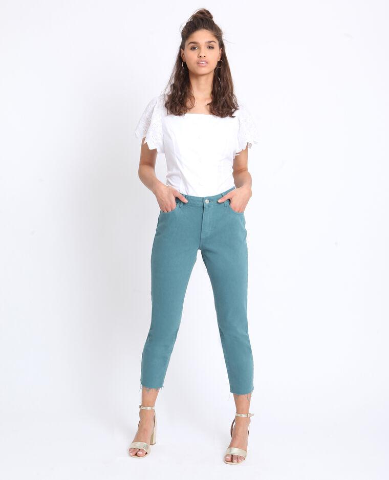 Jeans met middelhoge taille groen