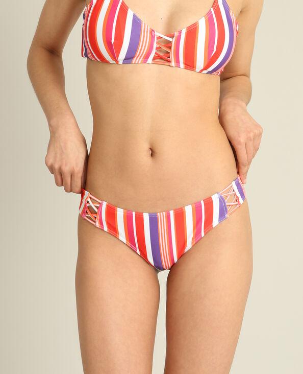 Bikinislip met strepen rood