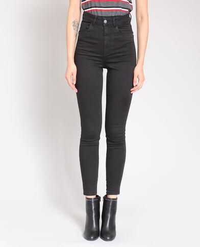 Skinny broek met hoge taille zwart