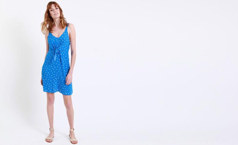 Robe à pois bleu