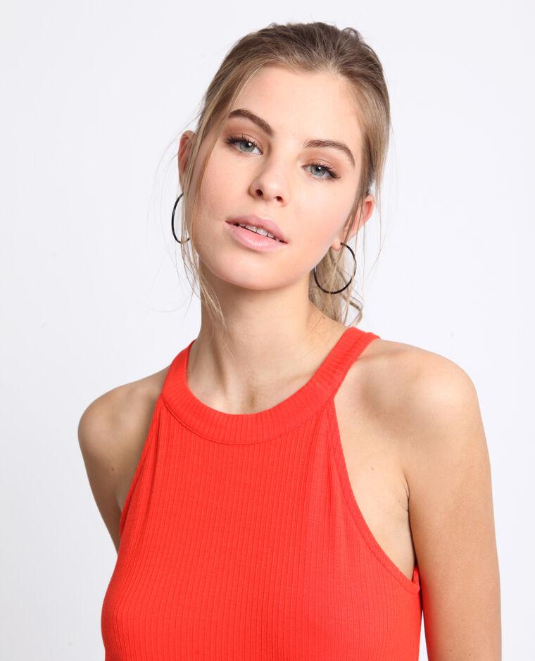 Shirt van ribstof oranje