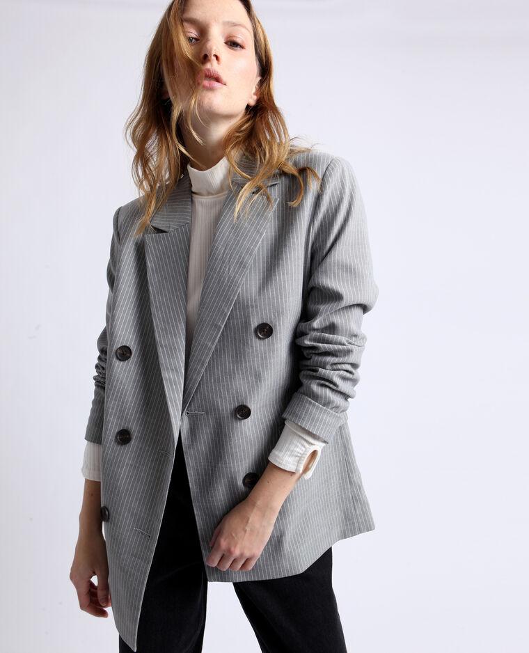 Blazer à rayures gris