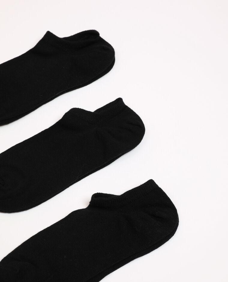 Set van lage sokken zwart