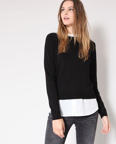 ... Chaussures · toute la collection · Pull chemise noir bc1fea13e7aa