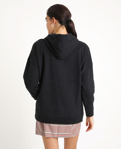 Sweat à capuche oversized noir