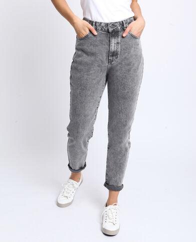 Jeans met hoge taille grijs