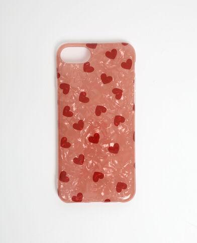 iPhone-hoesje met hartjes rood