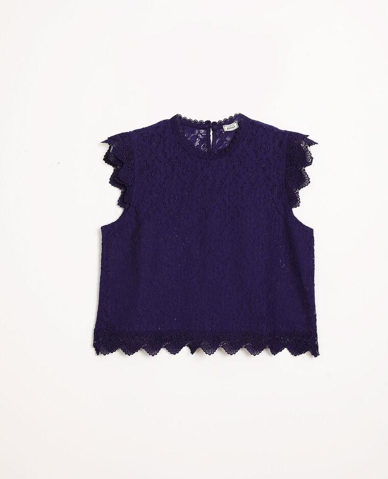 Top dentelle violet
