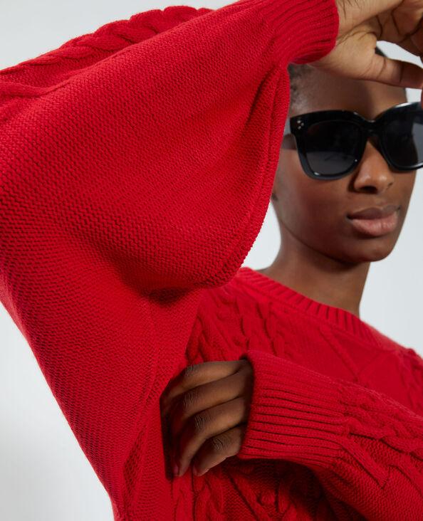 Mooie trui met verstelbare taille rood - Pimkie