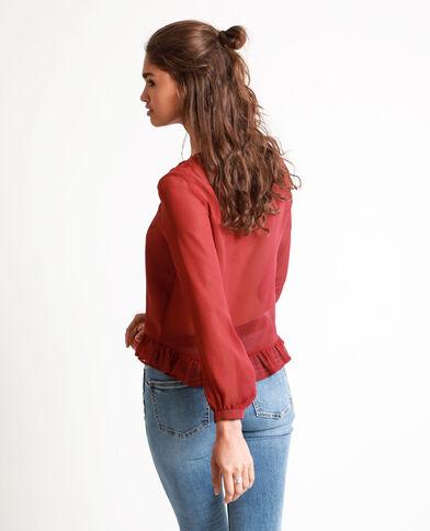 Korte blouse donkerrood