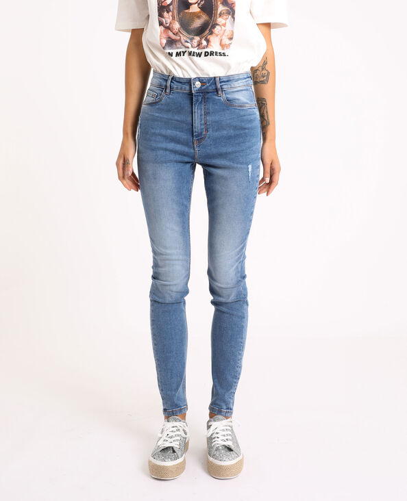 Jean skinny high waist bleu denim