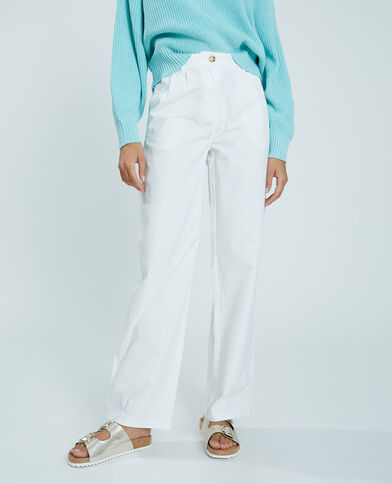 Pantalon en toile blanc - Pimkie