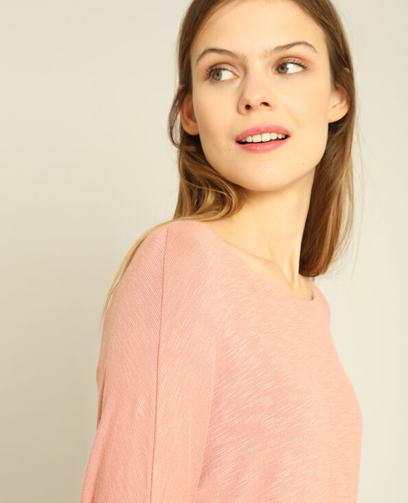 T-shirt à manches chauve-souris rose poudré
