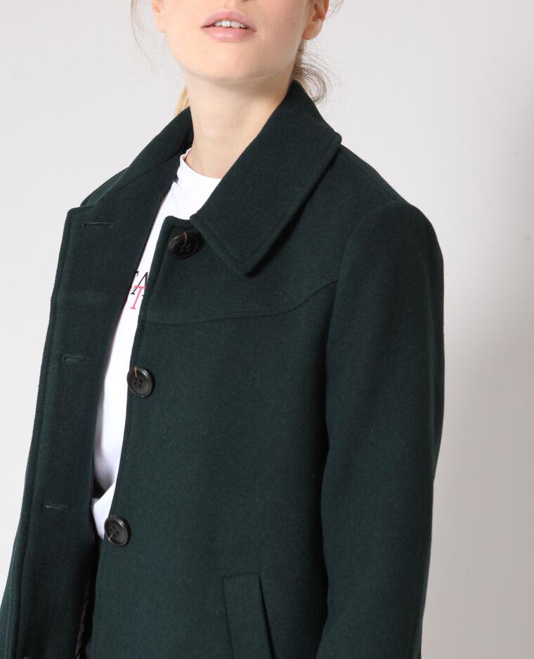 Manteau mi-long vert