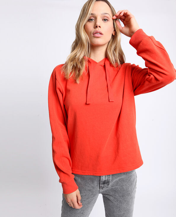 Sweater met kap oranje