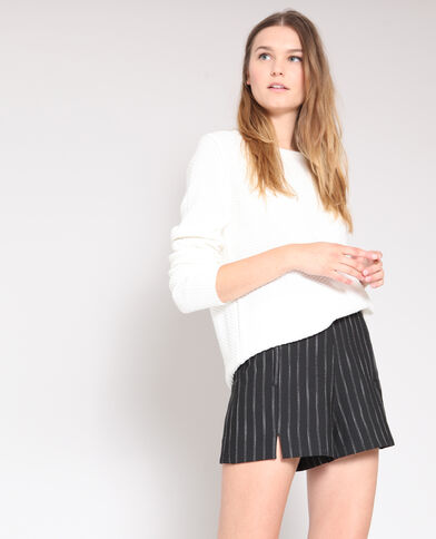Trui in origineel tricot wit
