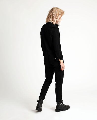 Jumpsuit van jeans zwart
