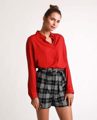 Soepelvallend hemd rood