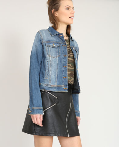 Kort jeansjasje blauw